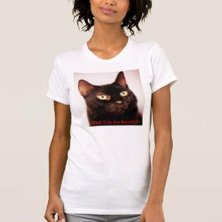 Camiseta Os gatos pretos são t-shirt bonito
