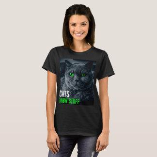 Camiseta Os gatos sabem o material