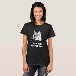 Camiseta Os GATOS SÃO PESSOAS DEMASIADO do t-shirt