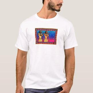 Camiseta Os gêmeos egípcios por Karen reduzem o estúdio
