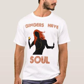 Camiseta Os gengibres fêmeas têm a alma