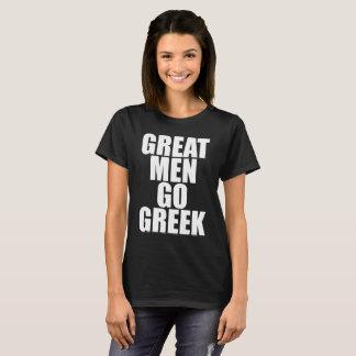 Camiseta Os grandes homens vão o t-shirt grego da vida da