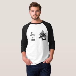 Camiseta Os homens do dia dos namorados nervosos meu amor