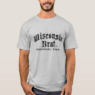 Camiseta Os homens do pirralho de Wisconsin Short o T da