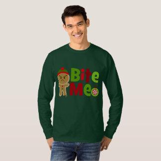 Camiseta Os homens festivos mordem-me t-shirt do Natal do