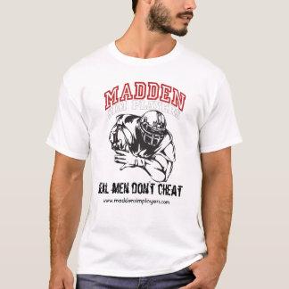 Camiseta Os homens Madden-Sim-Jogador-Branco-Lisos, reais