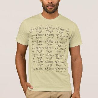 Camiseta Os homens/unisex comem a repetição do T do tango