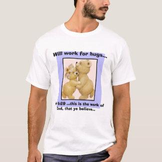 Camiseta os huggingteddies, trabalharão para abraços…, 6:2