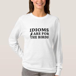 Camiseta Os idioma são para os pássaros