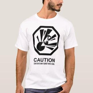 Camiseta Os índices podem estourar na canção
