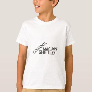 Camiseta Os índices podem ter deslocado