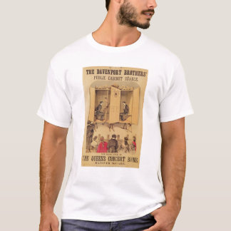 Camiseta Os irmãos de Davenport, poster para o Seance, 1865