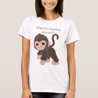 Camiseta Os KRW querem monkey ao redor?