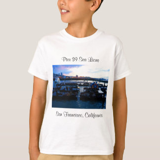 Camiseta Os leões de mar #6 do cais 39 de San Francisco