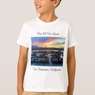 Camiseta Os leões de mar #8 do cais 39 de San Francisco