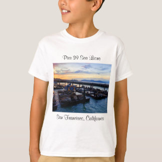 Camiseta Os leões de mar #9 do cais 39 de San Francisco