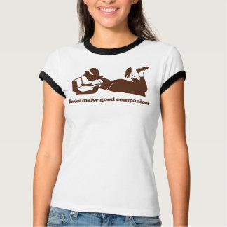 Camiseta Os livros fazem bons companheiros