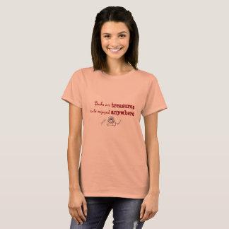 Camiseta Os livros são tesouros a ser apreciados em