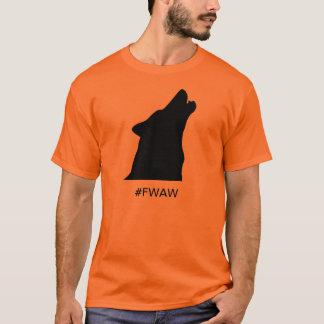 Camiseta os lobos enegrecem para sempre no ouro