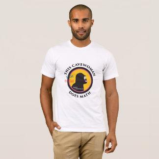 Camiseta Os logotipos das mulheres em Cavewoman da