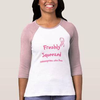 Camiseta Os mamogramas recentemente espremidos salvar o