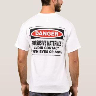 Camiseta Os materiais corrosivos do perigo suportam