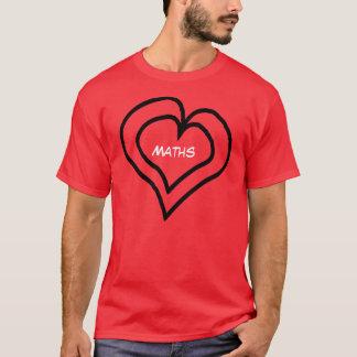 Camiseta Os Maths estão em meu coração