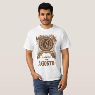 Camiseta Os melhores homens nascem em Agosto