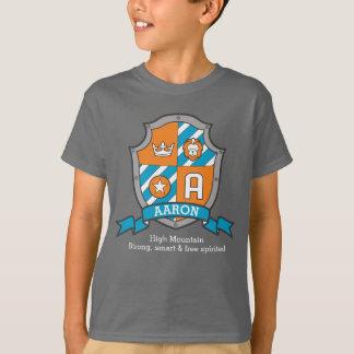 Camiseta Os meninos nome & significado da letra A de Aaron