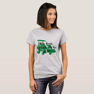 Camiseta Os meninos parvos, tratores são para meninas