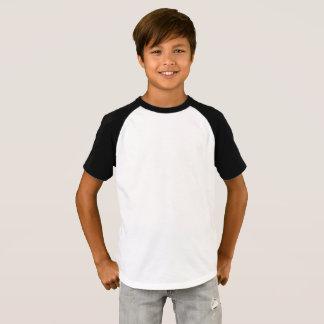 Camiseta Os meninos Short o t-shirt do Raglan da luva