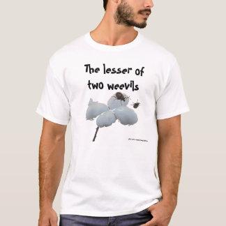 Camiseta Os menos de dois weevils