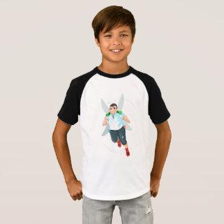 Camiseta Os miúdos de Bubba Short o t-shirt do Raglan da