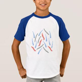 Camiseta Os miúdos do ramo Short o t-shirt do Raglan da