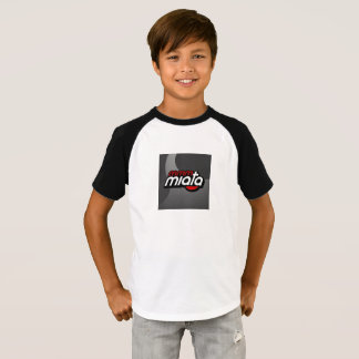 Camiseta Os miúdos Short o t-shirt do Raglan da luva