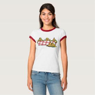 Camiseta Os Nachos derreteram microplaquetas de tortilha do