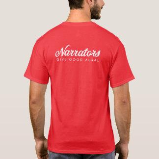 Camiseta Os narradores dão bons homens brancos/vermelhos