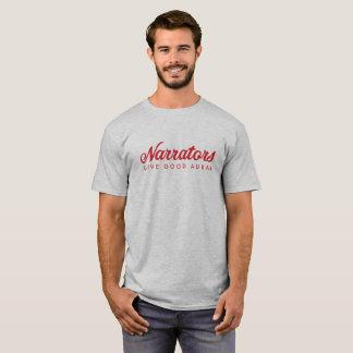 Camiseta Os narradores dão bons homens vermelhos