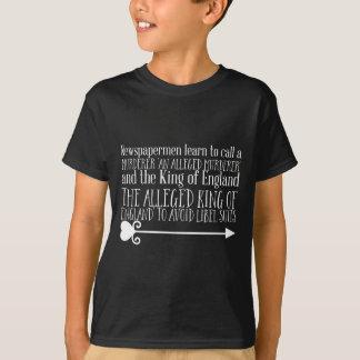Camiseta Os Newspapermen aprendem chamar um assassino 'um