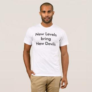 Camiseta Os níveis novos trazem diabos novos