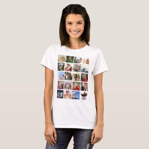 Camiseta Os nomes do Tshirt 20pics da colagem da FOTO do