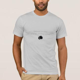 Camiseta Os objetos serão fotografados