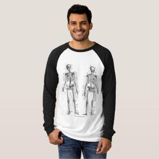 Camiseta Os ossos Sleeved por muito tempo o t-shirt