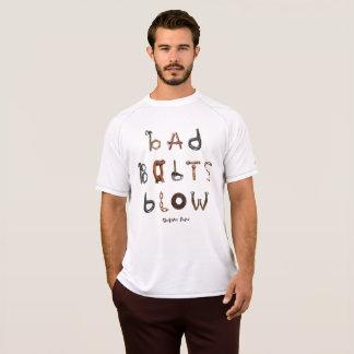 Camiseta Os parafusos maus fundem a malha seca dobro
