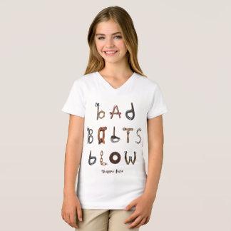 Camiseta Os parafusos maus fundem - o jérsei fino V da
