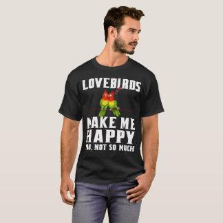 Camiseta Os pássaros do amor fazem-me feliz