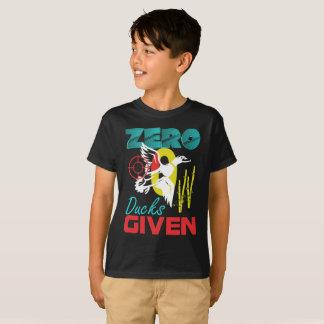 Camiseta Os patos zero dados o pato caçam o jogo pequeno