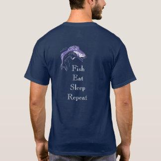 Camiseta Os peixes comem o sono --- T-shirt para pescar fãs