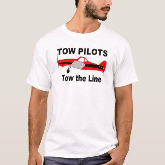 Camiseta Os pilotos do reboque rebocam a linha