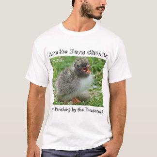 Camiseta Os pintinhos árticos da andorinha-do-mar estão